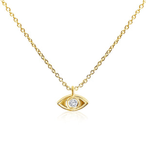 evil eye yellow gold