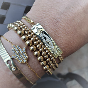 golden evil eye lucky bracelets