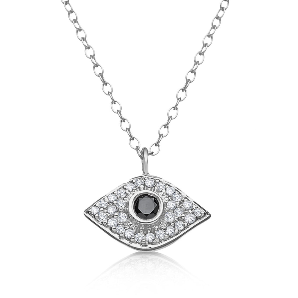 EVIL EYE DIAMOND NECKLACE ON CHAIN