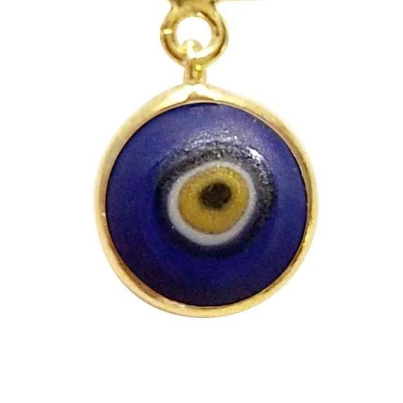 navy blue evil eye charm