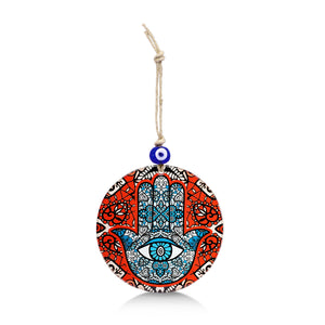 evil eye and hamsa wall hanging for home