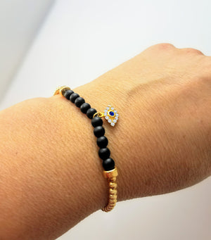 Lucky Stylish Eye Bracelet - Alef Bet Jewelry by Paula