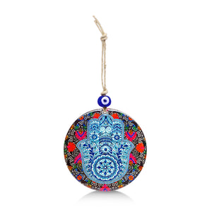 red hamsa hand wall hanging