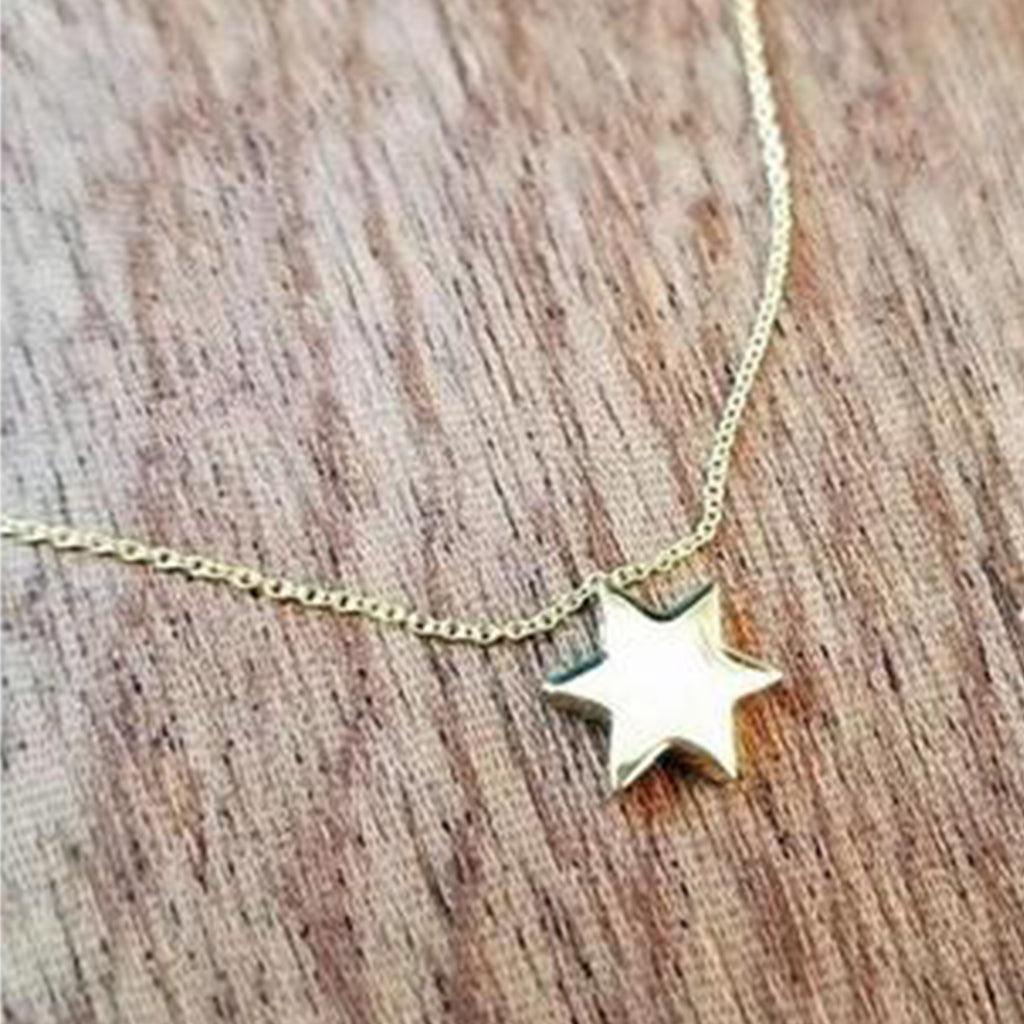 Gold Star of David Necklace - Alef Bet Jewelry by Paula