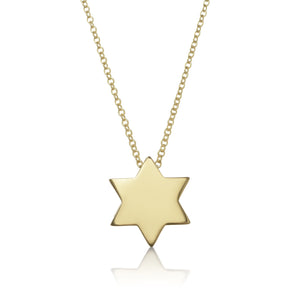 plain gold diamond star necklace