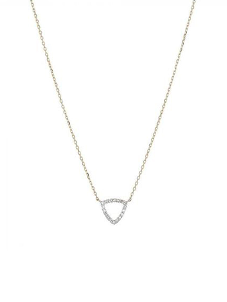 triangular shaped diamond necklace