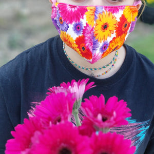 mask teens flowers