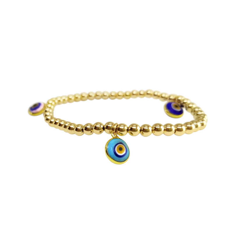 colorful evil eye bracelet