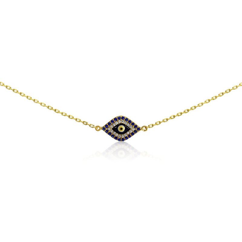 golden evil eye lucky bracelet