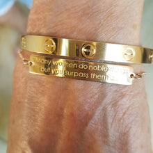 14k Gold Honorable Woman Bracelet | Proverbs 31 - Alef Bet Jewelry by Paula