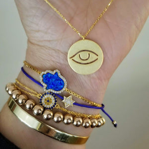 jewish star bracelet in blue