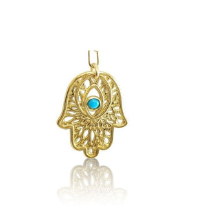 hamsa hand in yellow gold