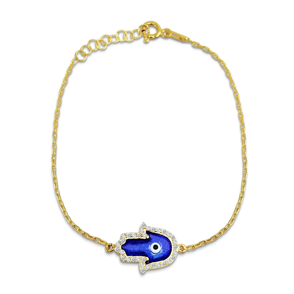 hand of god blue bracelet