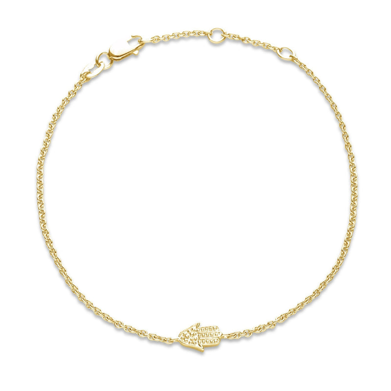 hamsa bracelet in yellow gold