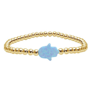 gold and hamsa bracelet