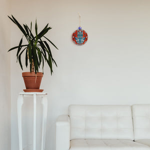 red home blessing for wall with hamsa