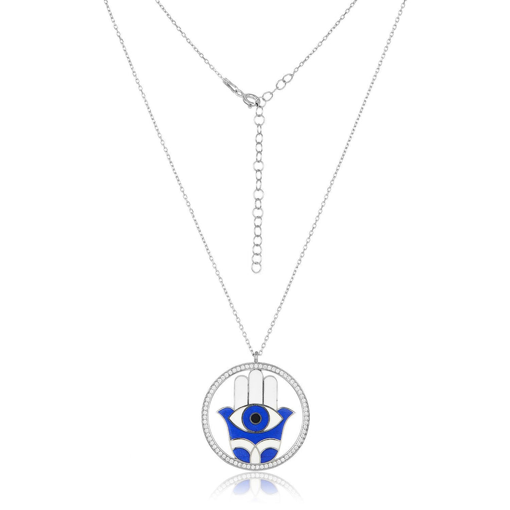 hamsa blue charm with evil eye
