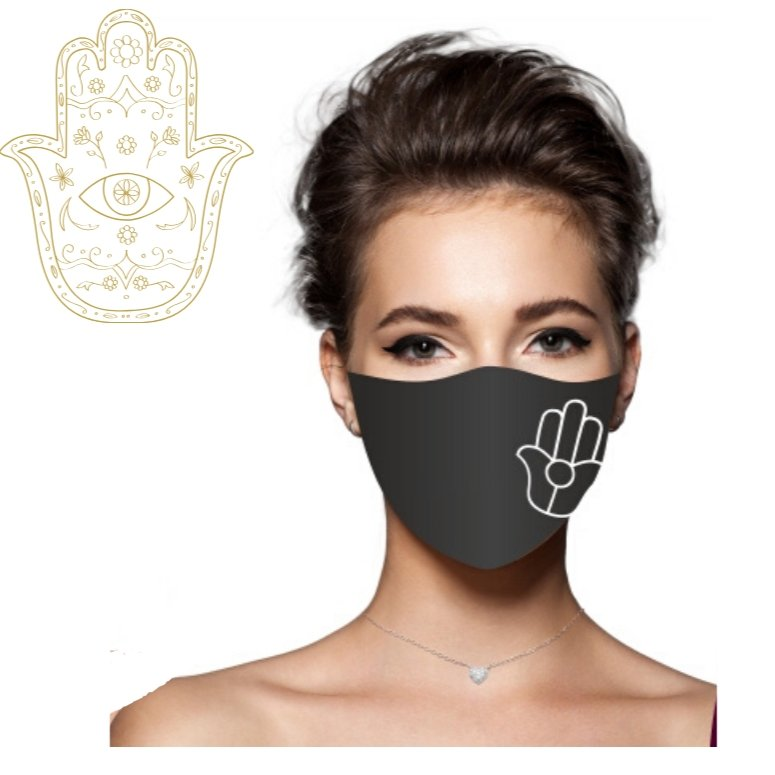 hamsa hand amulet face mask women