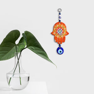 hamsa orange for home wall decor