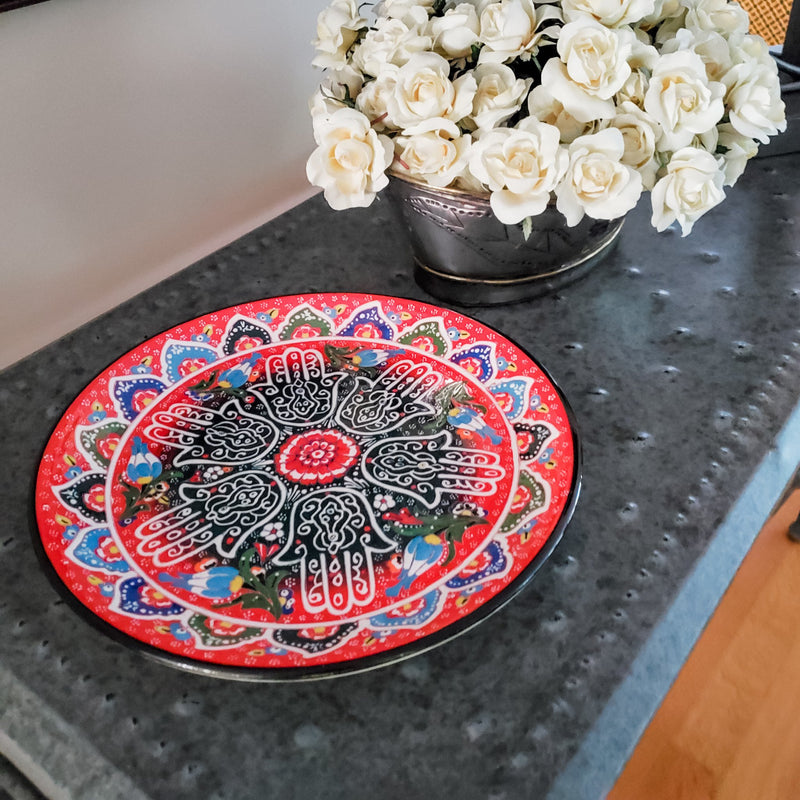 hamsa hand platter for decoration