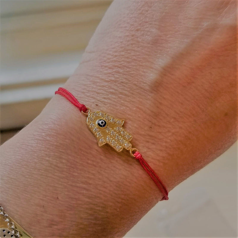 hamsa bracelet on red string