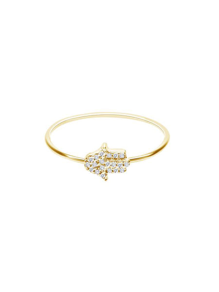 yellow gold hamsa ring