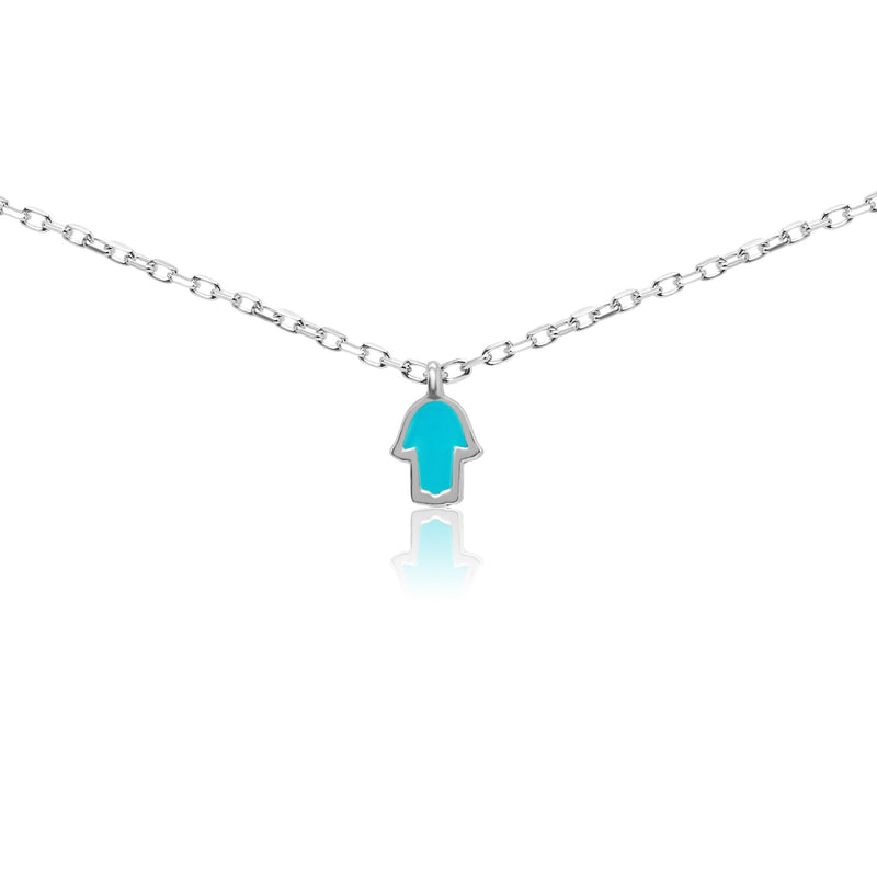 Tiny Hamsa Hand Necklace