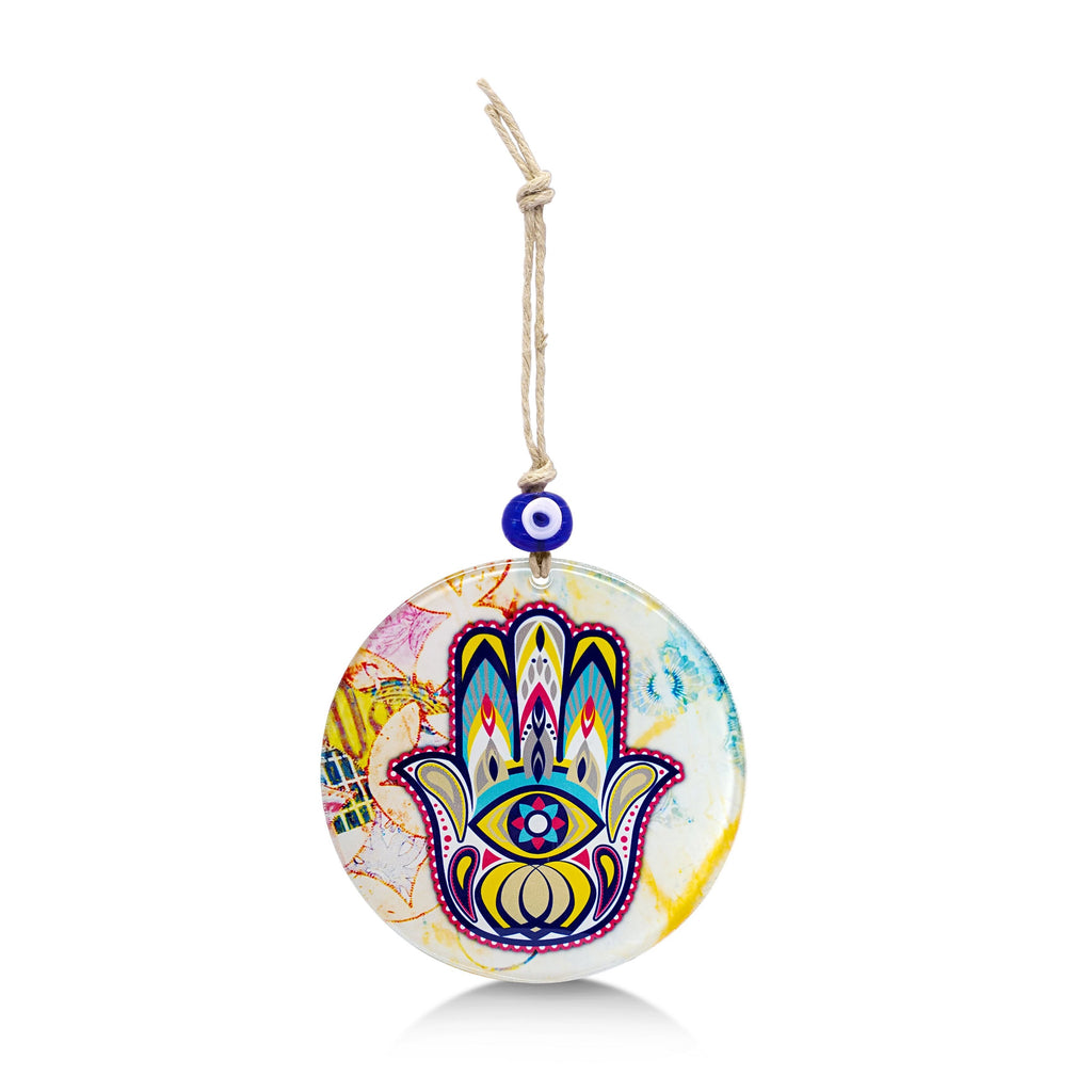 colorful hamsa home blessing artwork