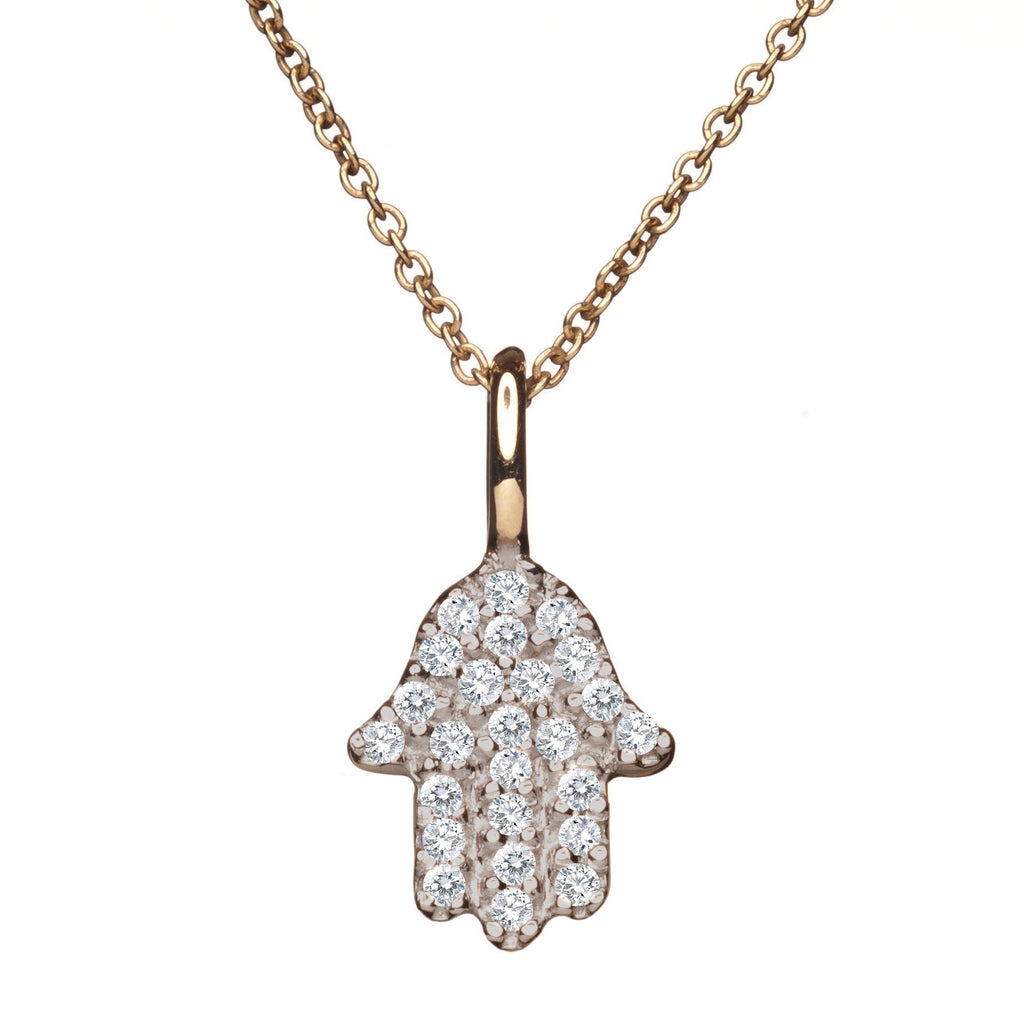hamsa gold and diamond necklace