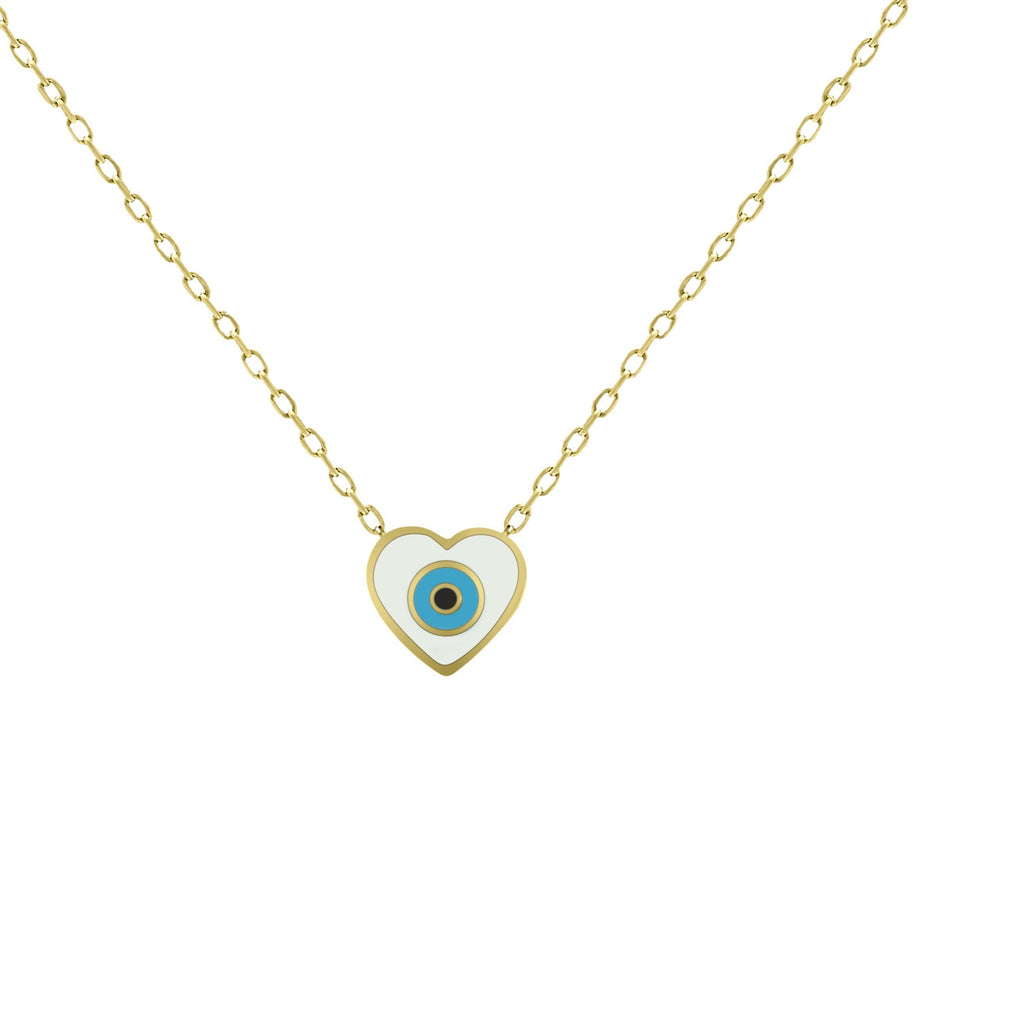 heart and eye necklace