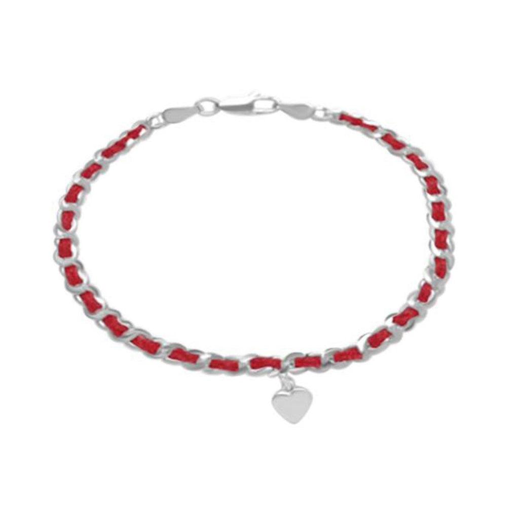 red string of fate heart bracelet