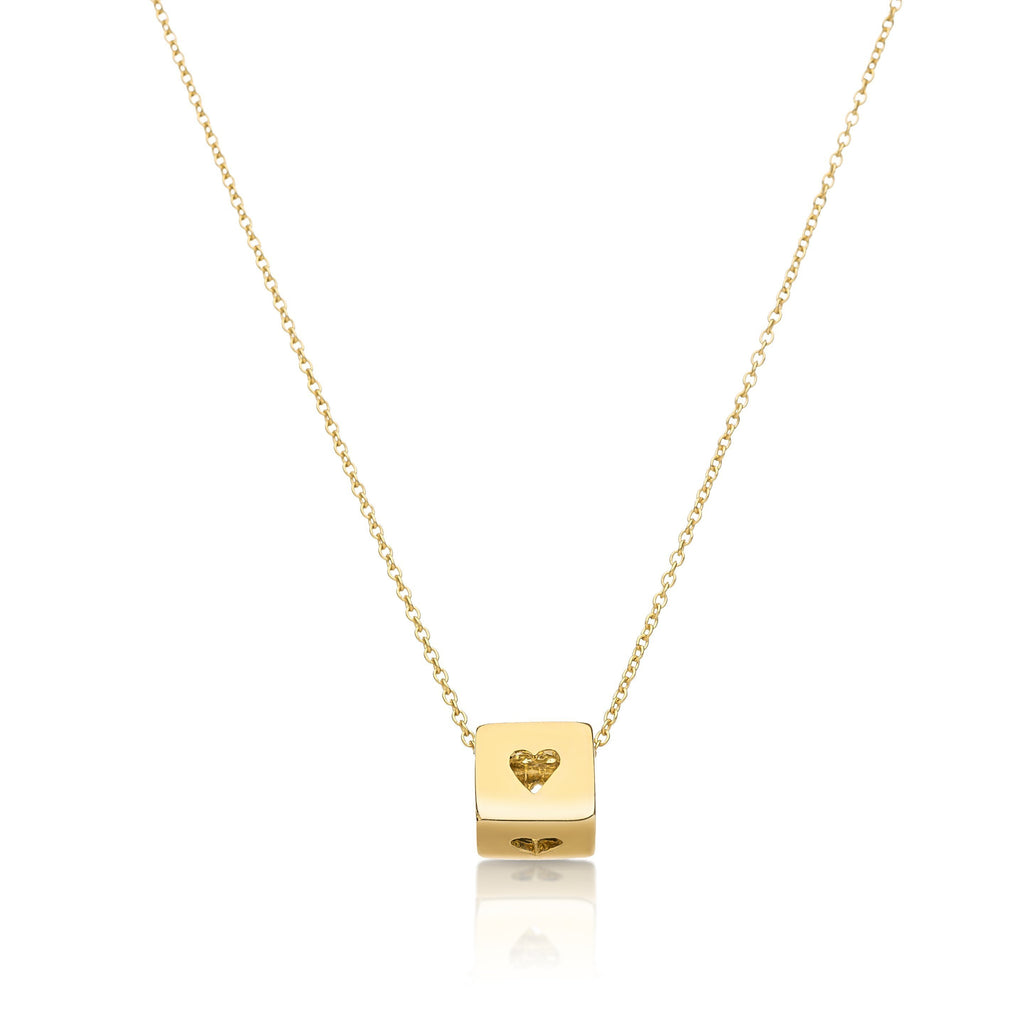 heart cube necklace