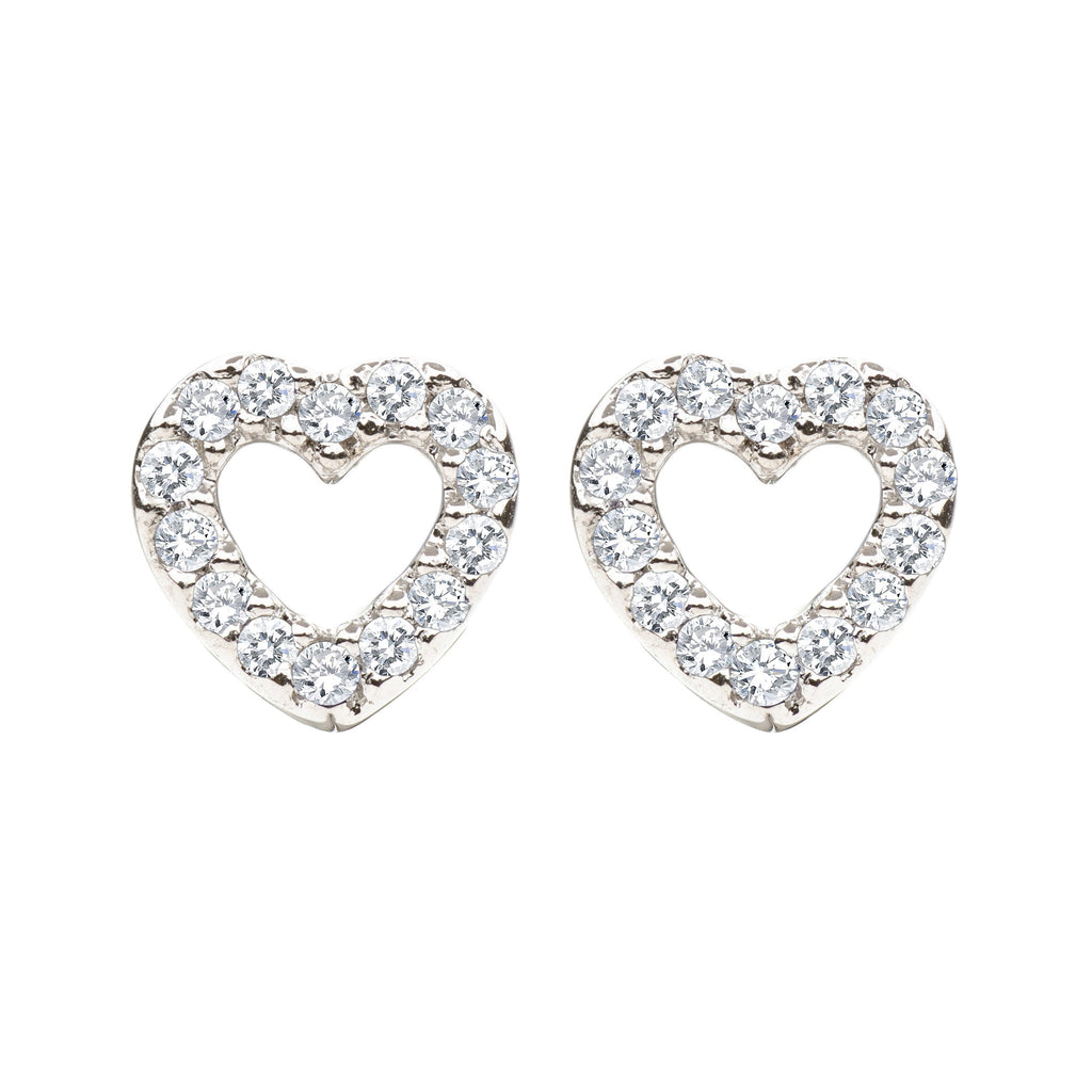 heart earring with diamond