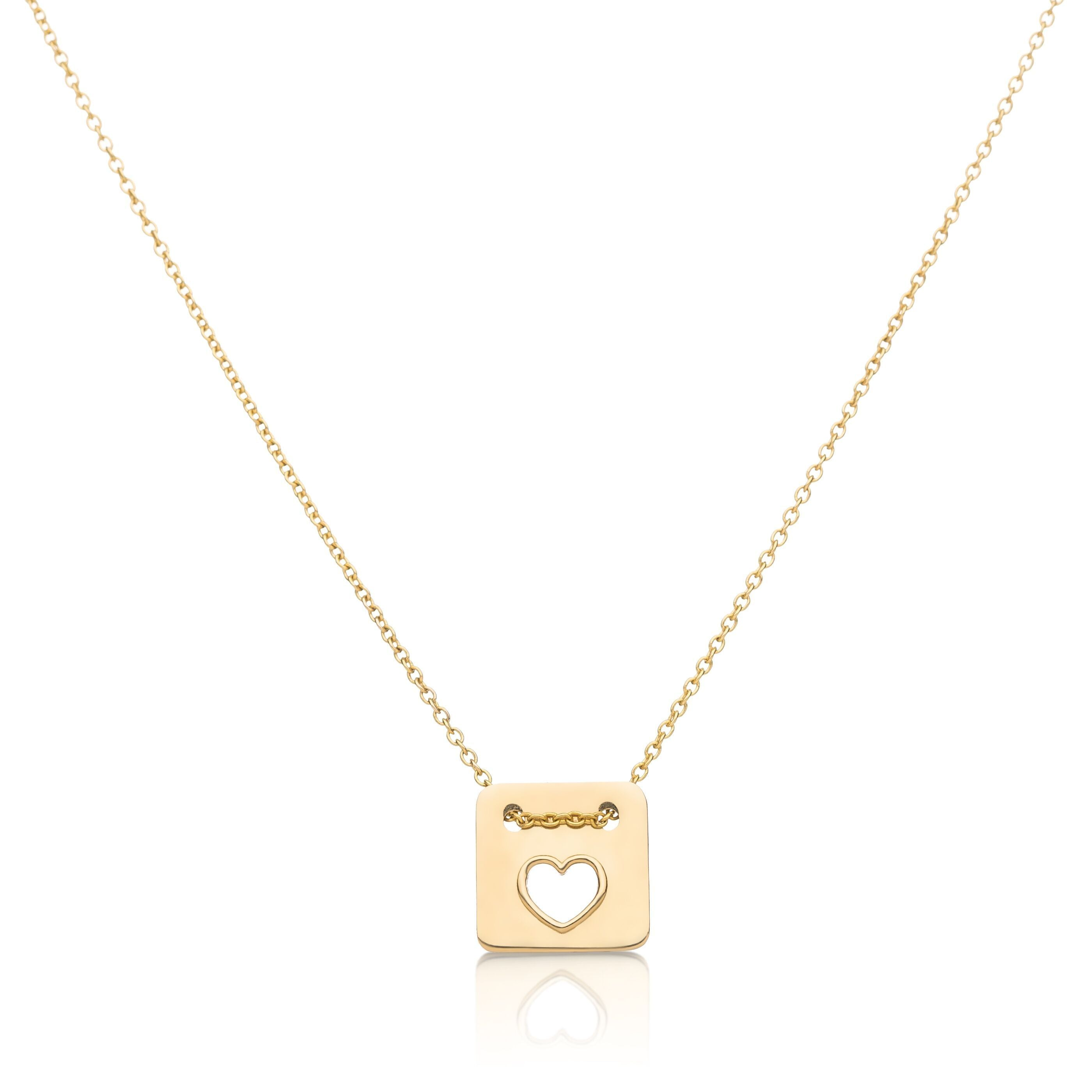 Love Necklace in 14k Gold