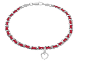 heart red string jewelry