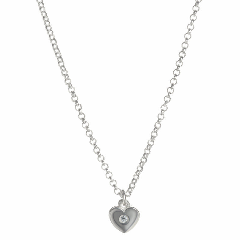 Gold Petite Heart Charm - Alef Bet Jewelry by Paula