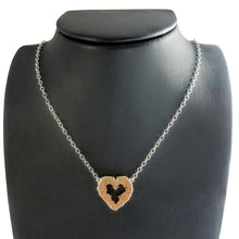 Floral Heart Necklace - Alef Bet Jewelry by Paula