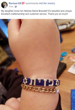 Your Name in Hebrew on a Bracelet - Alef Bet Jewelry by Paula