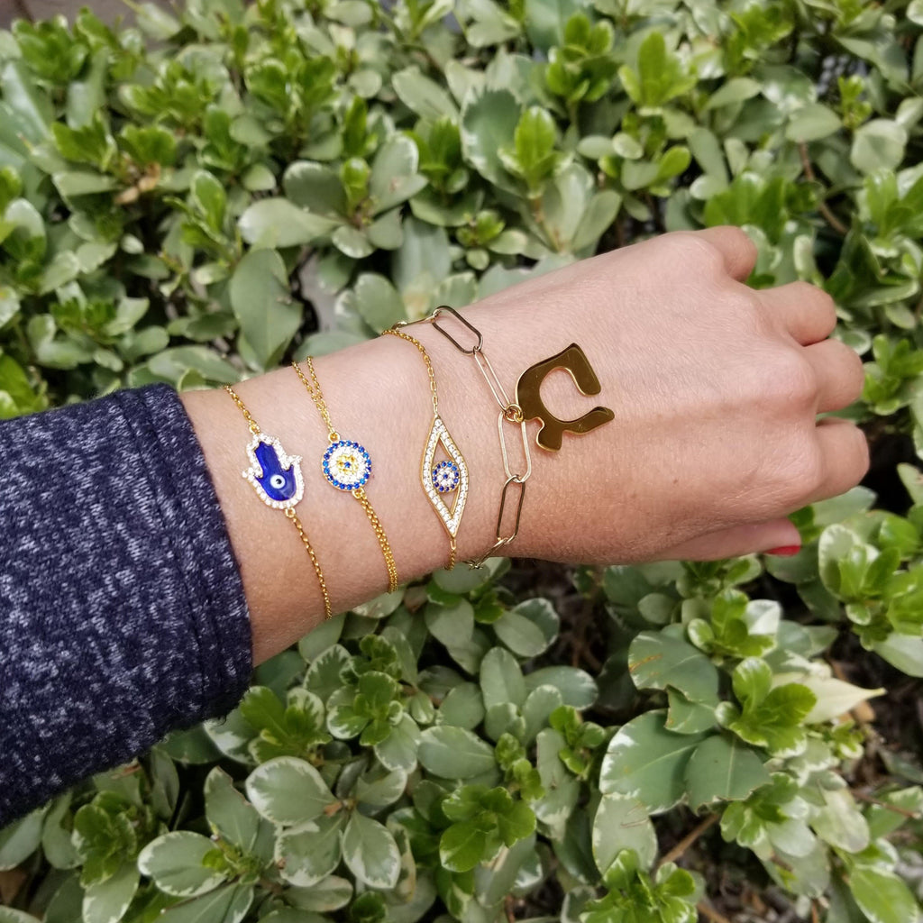 hebrew bracelet and evil eye jewelry