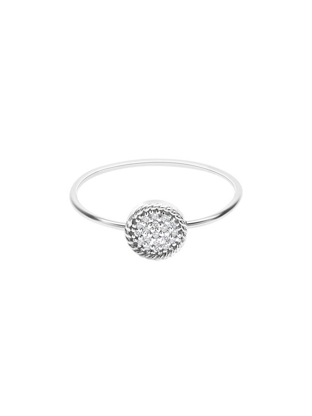 Diamond Circle Ring - Alef Bet Jewelry by Paula