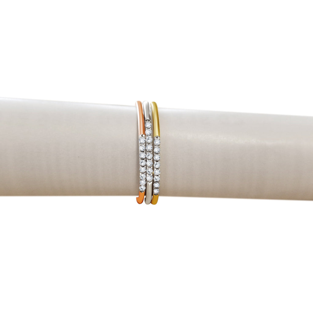 Diamond Minimal Bands - Alef Bet Jewelry by Paula