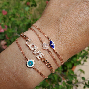 rose gold love bracelet collection