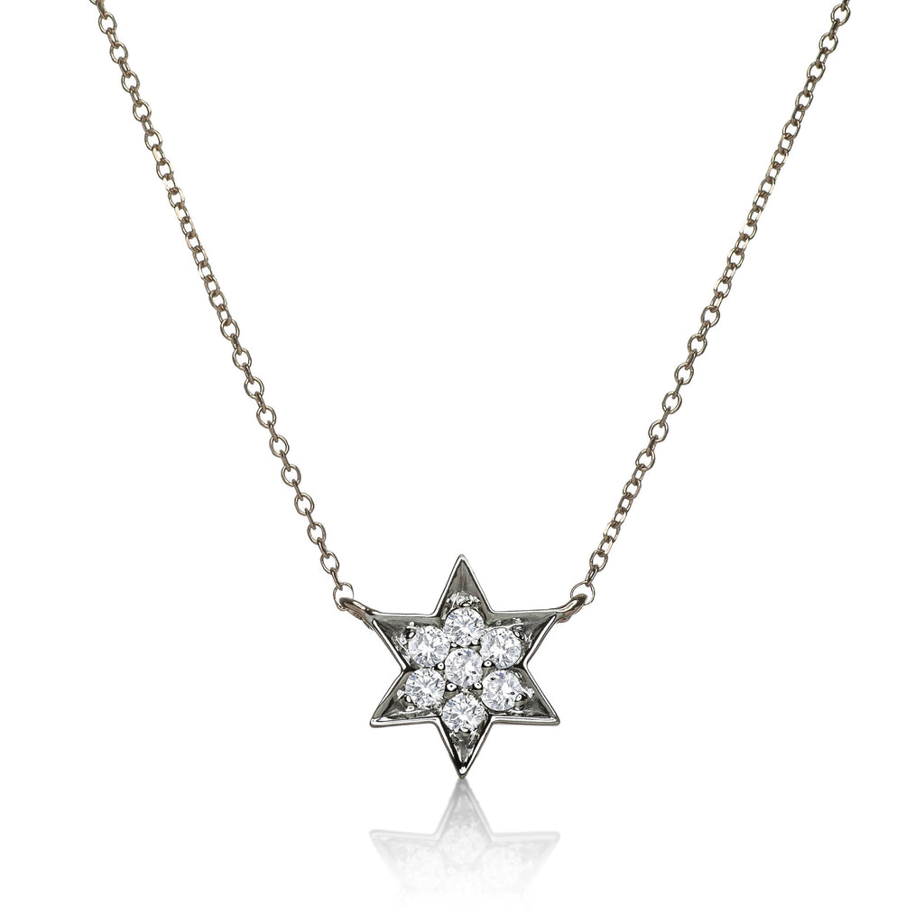 Diamond Magen David Necklace