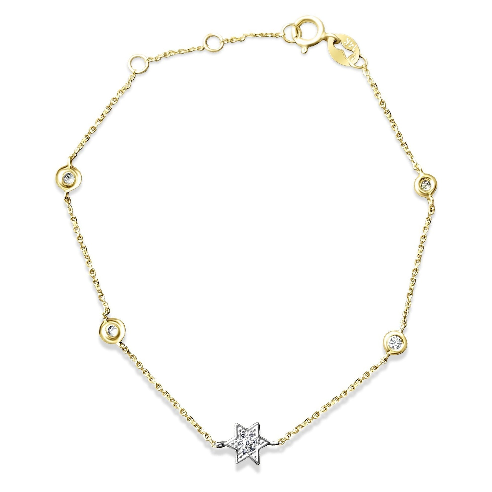 Jewish Star Bracelet With Diamonds