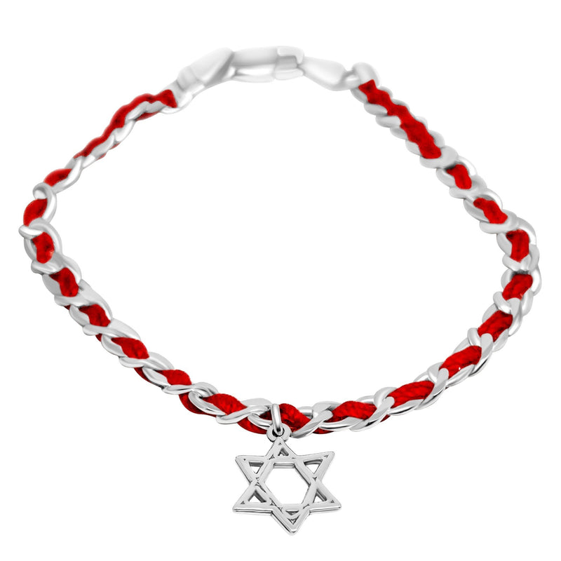 Star of David Red String Lucky Bracelet