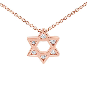 Heirloom Judaic Necklace in 14k Gold - Alef Bet Jewelry by Paula