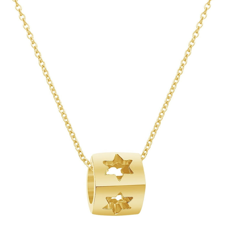 Heart Or Star Necklace --Building Block of Love - Alef Bet Jewelry by Paula