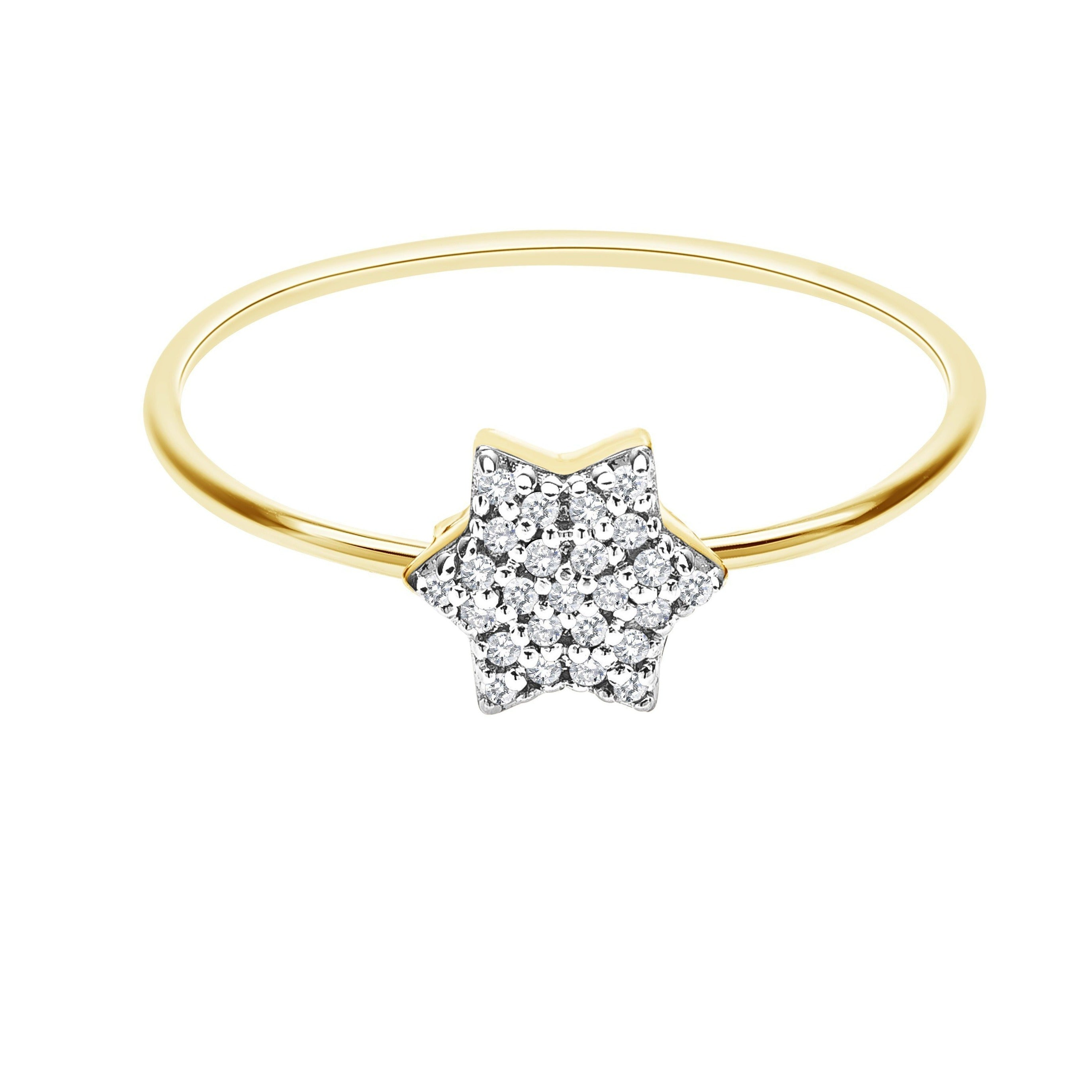 Diamond Star of David Ring in 14k Gold