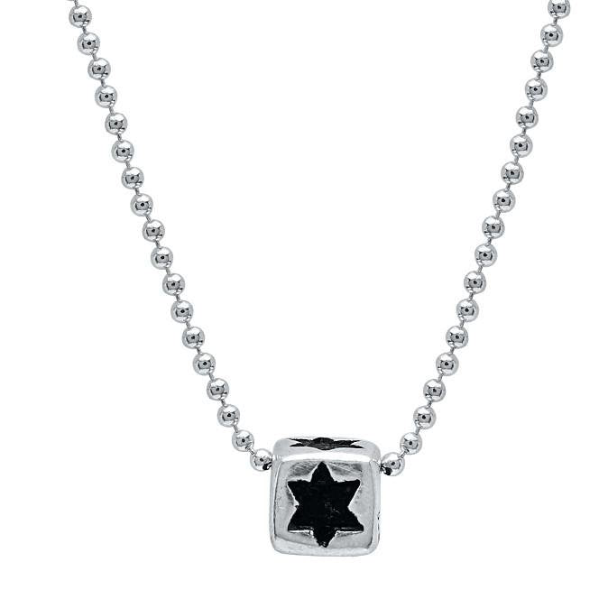 star on a cube shape necklace