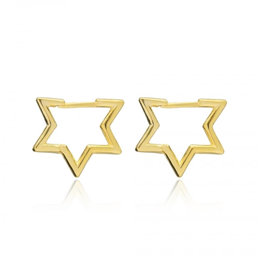 star david earring in gold